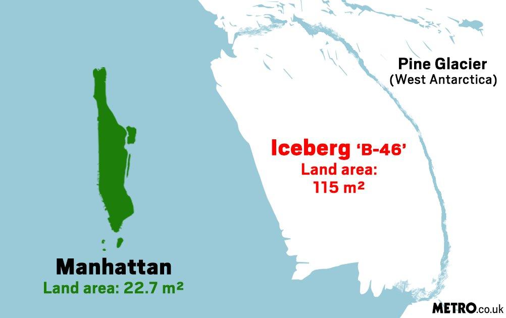 Iceberg five times bigger than Manhattan breaks off glacier in Antarctica