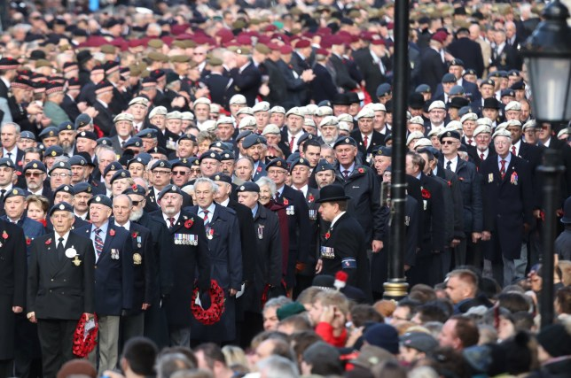Veterans at the Remembrance Sunday parade
