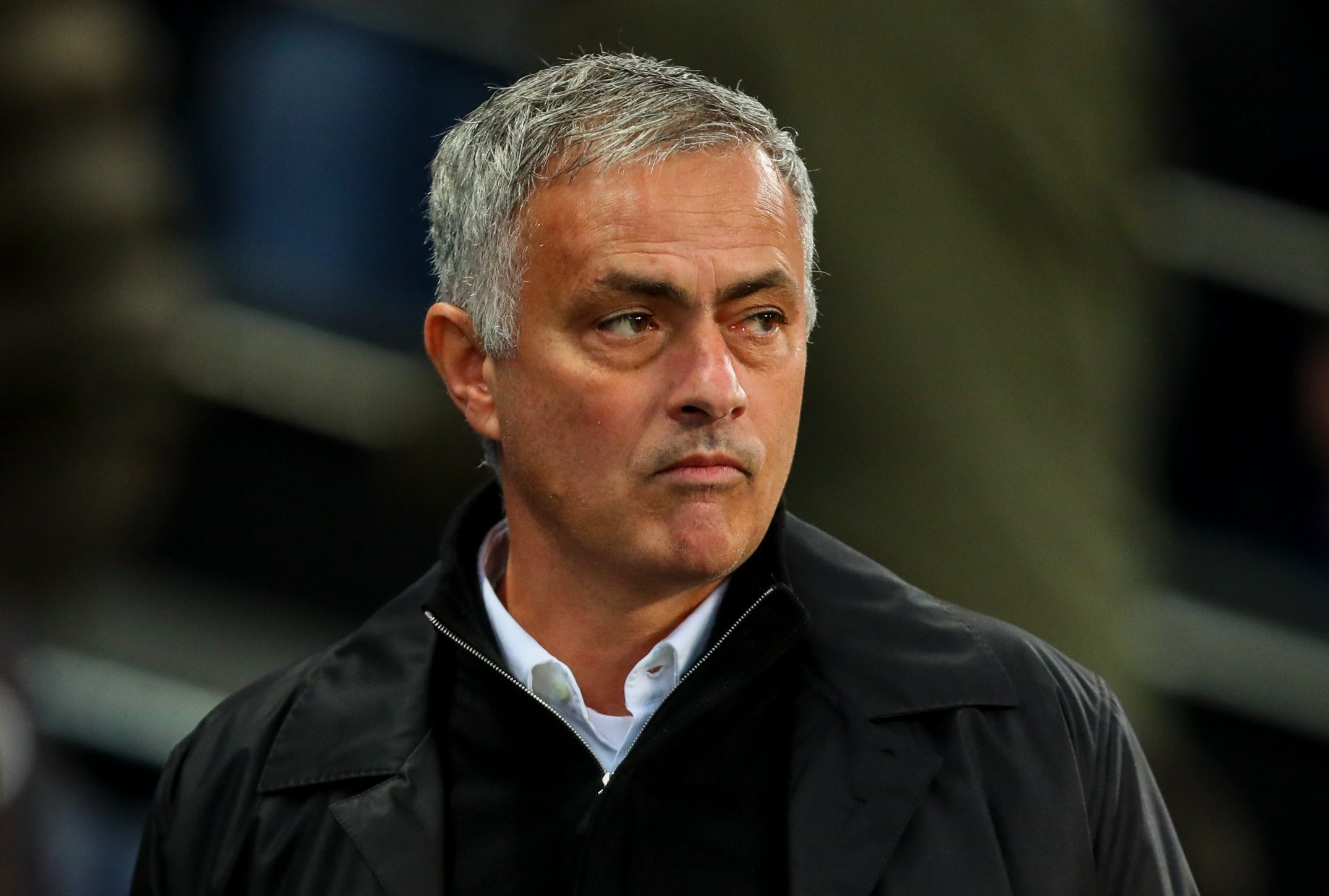 MANCHESTER, ENGLAND - NOVEMBER 11: Jose Mourinho the head coach / manager of Manchester United during the Premier League match between Manchester City and Manchester United at Etihad Stadium on November 11, 2018 in Manchester, United Kingdom. (Photo by Robbie Jay Barratt - AMA/Getty Images)