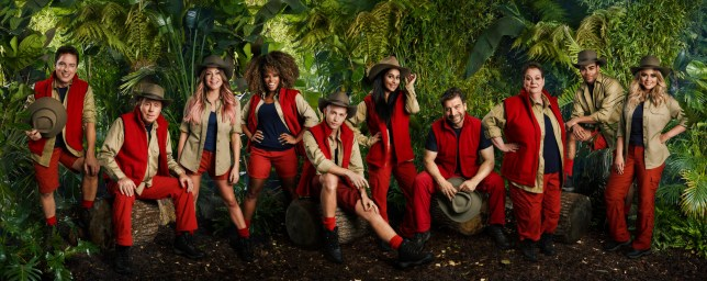 A photo of the I'm A Celebrity lineup from the 2018 ITV series