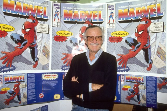 American comic book writer Stan Lee pictured in London promoting Marvel.