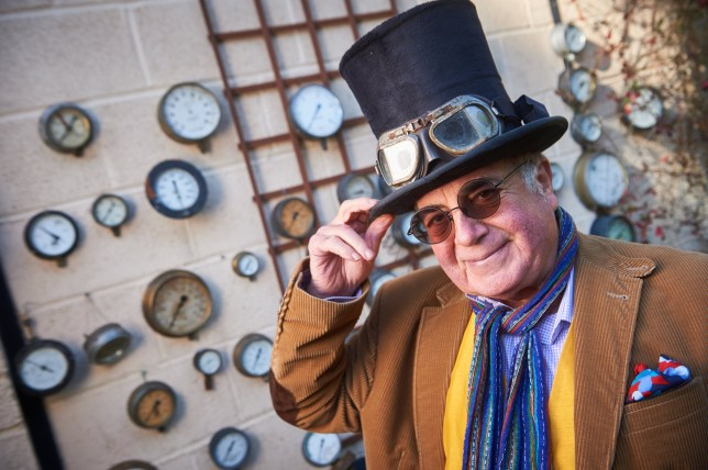 MERCURY PRESS. 13.11.18. HIGH WYCOMBE, UK. Pic shows: Britain's most eccentric inventor Lyndon Yorke at his home in High Wycombe. An unlucky in love inventor dubbed Britain?s wackiest is looking for his muse ? after finding he could build anything but a way to meet his dream woman. Eccentric Lyndon Yorke is on the hunt for a soulmate to spend his days with ? and said the more unusual the lucky lady is, the better. Lonely Lyndon said although he?s had plenty of girlfriends they never seem to last, despite the prospect of endless champagne-fuelled trips up and down the river in one of his more unusual inventions ? an amphibious bathchair. SEE MERCURY COPY Pic credit: Simon Jacobs/Mercury Press
