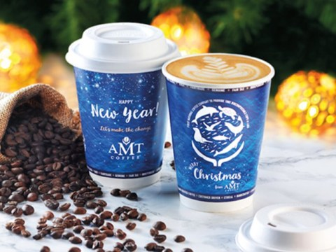 AMT coffee will now serve their drinks in compostable cups