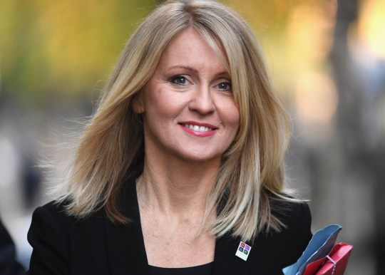 LONDON, ENGLAND - NOVEMBER 13: Work and Pensions Secretary Esther McVey arrives at 10 Downing Street on November 13, 2018 in London, England. (Photo by Leon Neal/Getty Images)