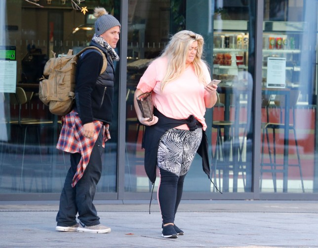 EXCLUSIVE: * Online Set Fee 300 GBP * * UK Mags Min Fee 250 GBP Per Pic - Double Fees For Cover * Makeup free Gemma Collins And Pro Ice Skater Matt Evers Seen Leaving The Rink After A 4 Hour Session On The Ice. Pictured: Gemma Collins Matt Evers Ref: SPL5041487 131118 EXCLUSIVE Picture by: SplashNews.com * Online Set Fee 300 GBP * * UK Mags Min Fee 250 GBP Per Pic - Double Fees For Cover * Splash News and Pictures Los Angeles: 310-821-2666 New York: 212-619-2666 London: 0207 644 7656 Milan: 02 4399 8577 photodesk@splashnews.com World Rights
