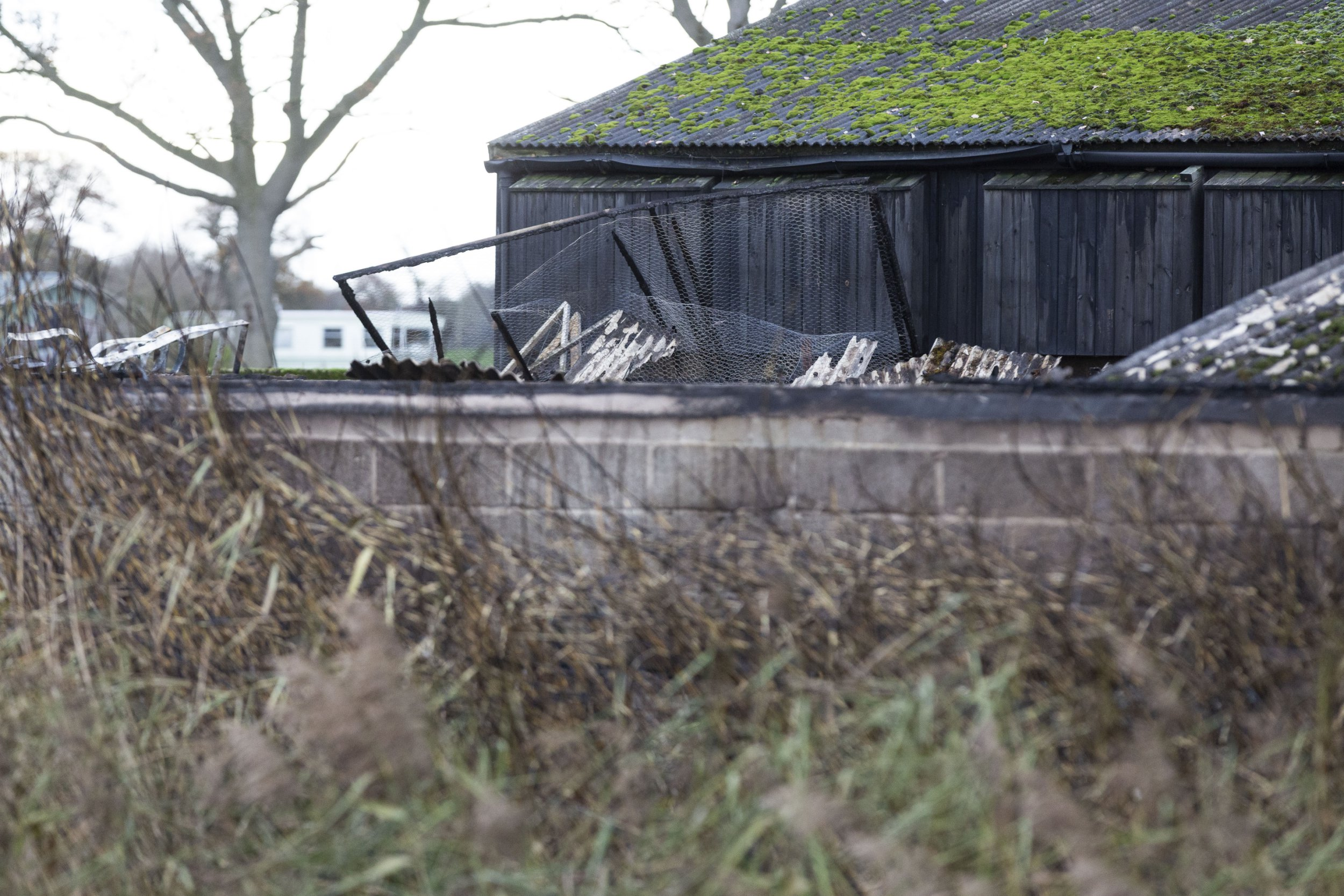 The site where a fire killed over 21,000 chicks. Over 21,000 chicks have been killed in a fire in Preston yesterday evening. The fire broke out at around 8pm on the 13th November 2018 on a chick farm in Salwick, Preston. SWLEchicks