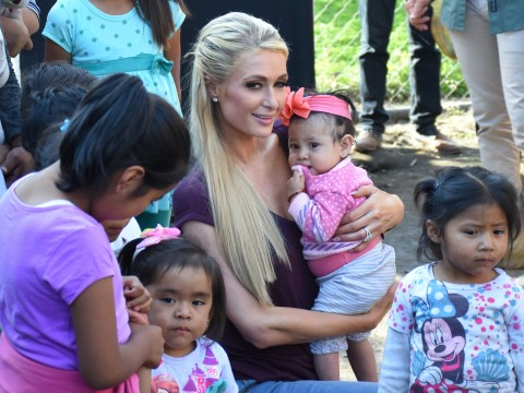 Paris Hilton donates $350k and a ton of Paris Hilton merch as she visits earthquake victims in Mexico