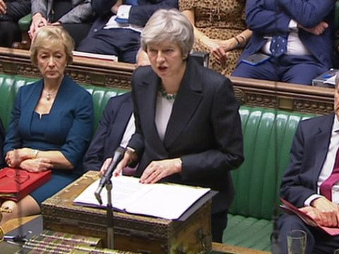 Theresa May tells MPs there won't be a People's Vote on Brexit