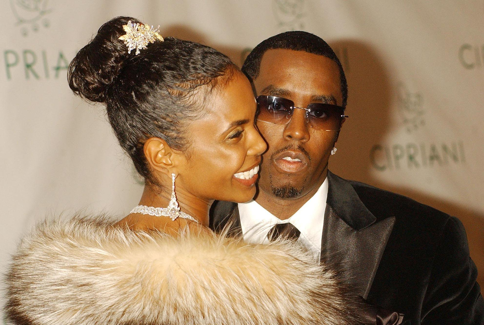"Sean ""P. Diddy"" Combs and Kim Porter arrive for his 35th Birthday Ball, held at Cipriani in New York City, USA."
