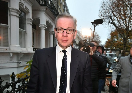 ?? Licensed to London News Pictures. 16/11/2018. London, UK. MICHAEL GOVE MP is seen leaving his London home the day after multiple resignations from Cabinet over a proposed Brexit deal with the EU. Photo credit: Ben Cawthra/LNP