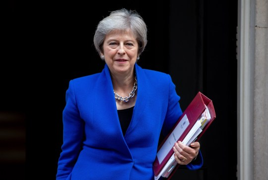 Mandatory Credit: Photo by Mark Thomas/REX/Shutterstock (9943147i) Prime Minister, Theresa May, leaves 10 Downing Street, to go to Parliament for Prime Minister's Questions. Theresa May, Downing Street, London, UK-24 Oct 2018
