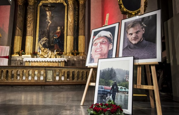 Mandatory Credit: Photo by IBL/REX (9982560q) People take part in a memorial service for the late DJ Avicii aka Tim Bergling at the Hedvig Eleonora church in Stockholm. Avicii Memorial Service, Stockholm, Sweden - 16 Nov 2018