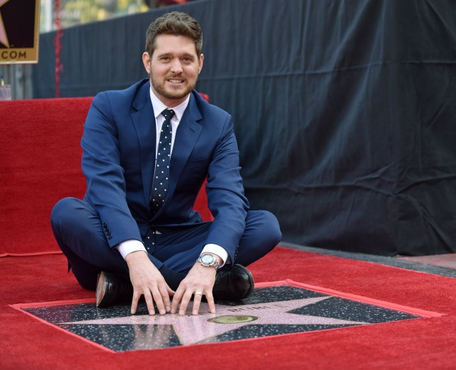 Michael Buble is honored with the 2,650th star on the Hollywood Walk of Fame during a ceremony in Los Angeles, California on November 16, 2018. Photo by Chris Chew/UPIPHOTOGRAPH BY UPI / Barcroft Images