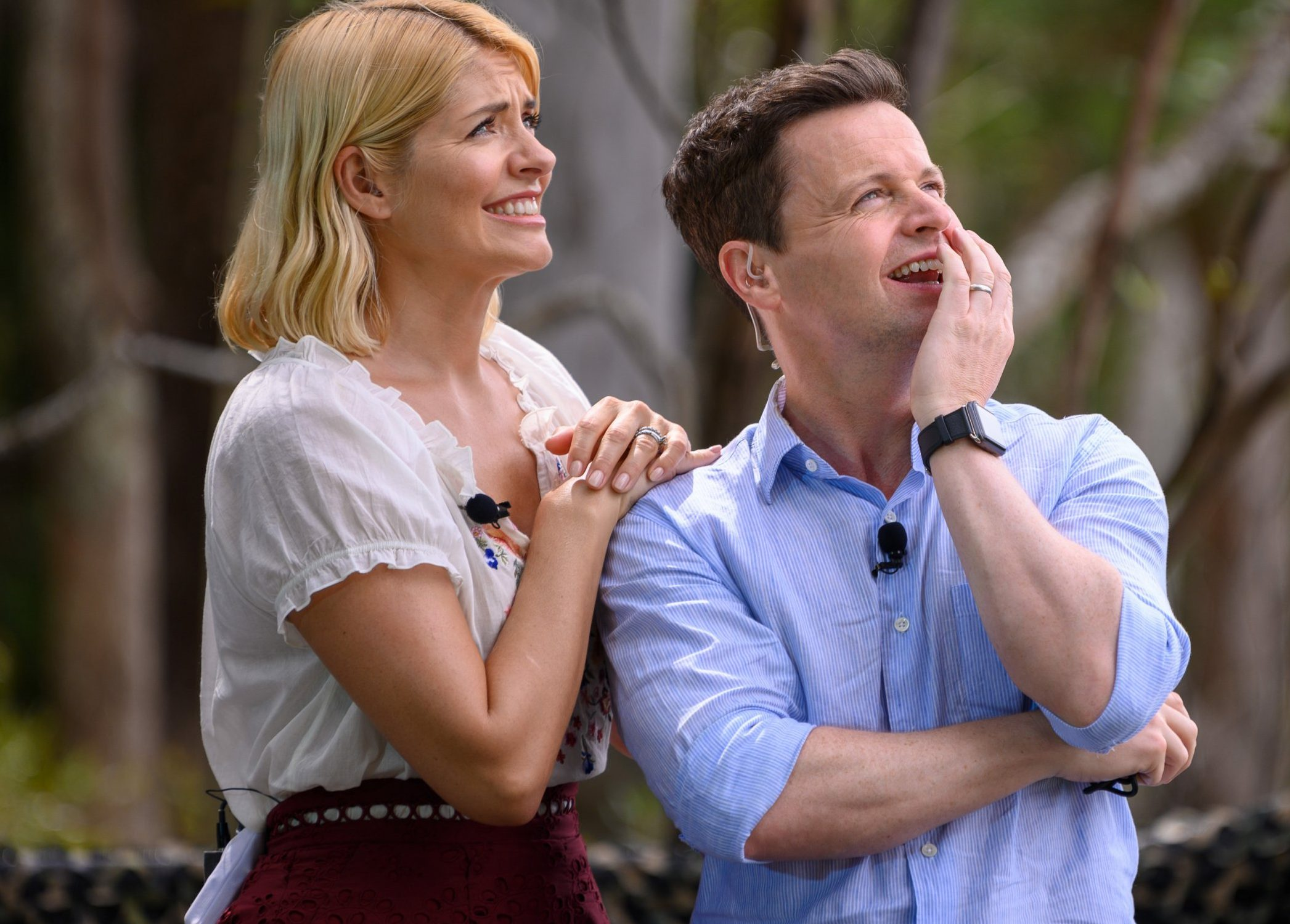 STRICT EMBARGO - NOT TO BE USED BEFORE 22:30 GMT, 17 NOV 2018 - EDITORIAL USE ONLY Mandatory Credit: Photo by James Gourley/ITV/REX/Shutterstock (9982809au) Holly Willoughby and Declan Donnelly 'I'm a Celebrity...Get Me Out of Here!' TV Show, Series 18, Australia - 17 Nov 2018