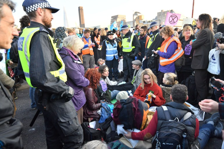 Nearly 90 arrested after shutting down Westminster with protest on
