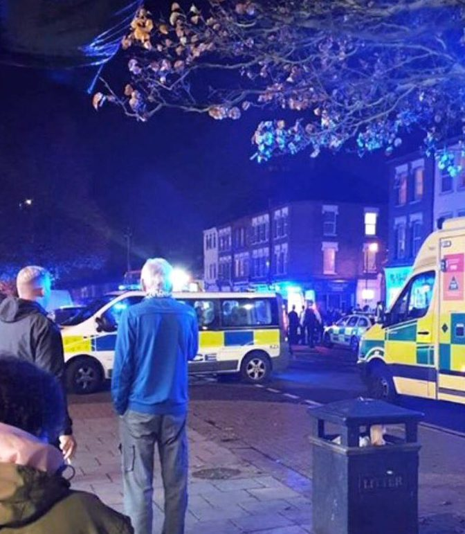 METRO GRAB - taken from the Twitter of @999London without permission Shooting in north London. Gordon Road, Enfield. 999London
