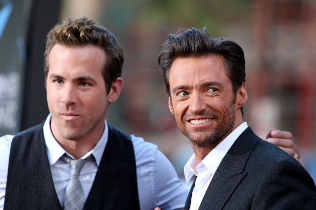 """HOLLYWOOD - APRIL 28: Actors Ryan Reynolds and Hugh Jackman arrive at the Screening Of 20th Century Fox's """"X-Men Origins: Wolverine"""" on April 28, 2009 at the Gruman's Manns Chinese Theater in Hollywood, California. (Photo by Frazer Harrison/Getty Images)"""