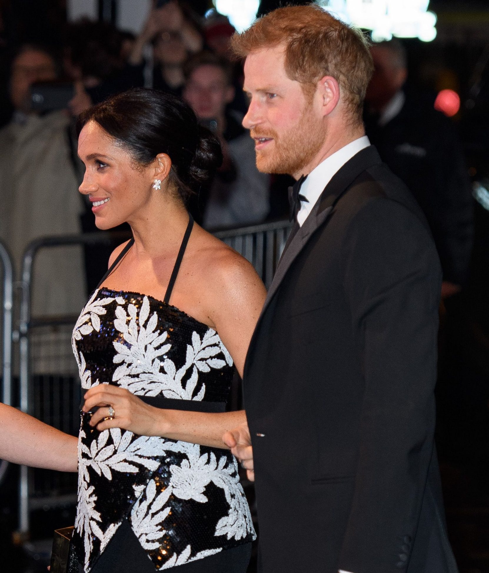 Mandatory Credit: Photo by Tim Rooke/REX/Shutterstock (9984998o) Meghan Duchess of Sussex and Prince Harry The Royal Variety Performance, Arrivals, London Palladium, UK - 19 Nov 2018