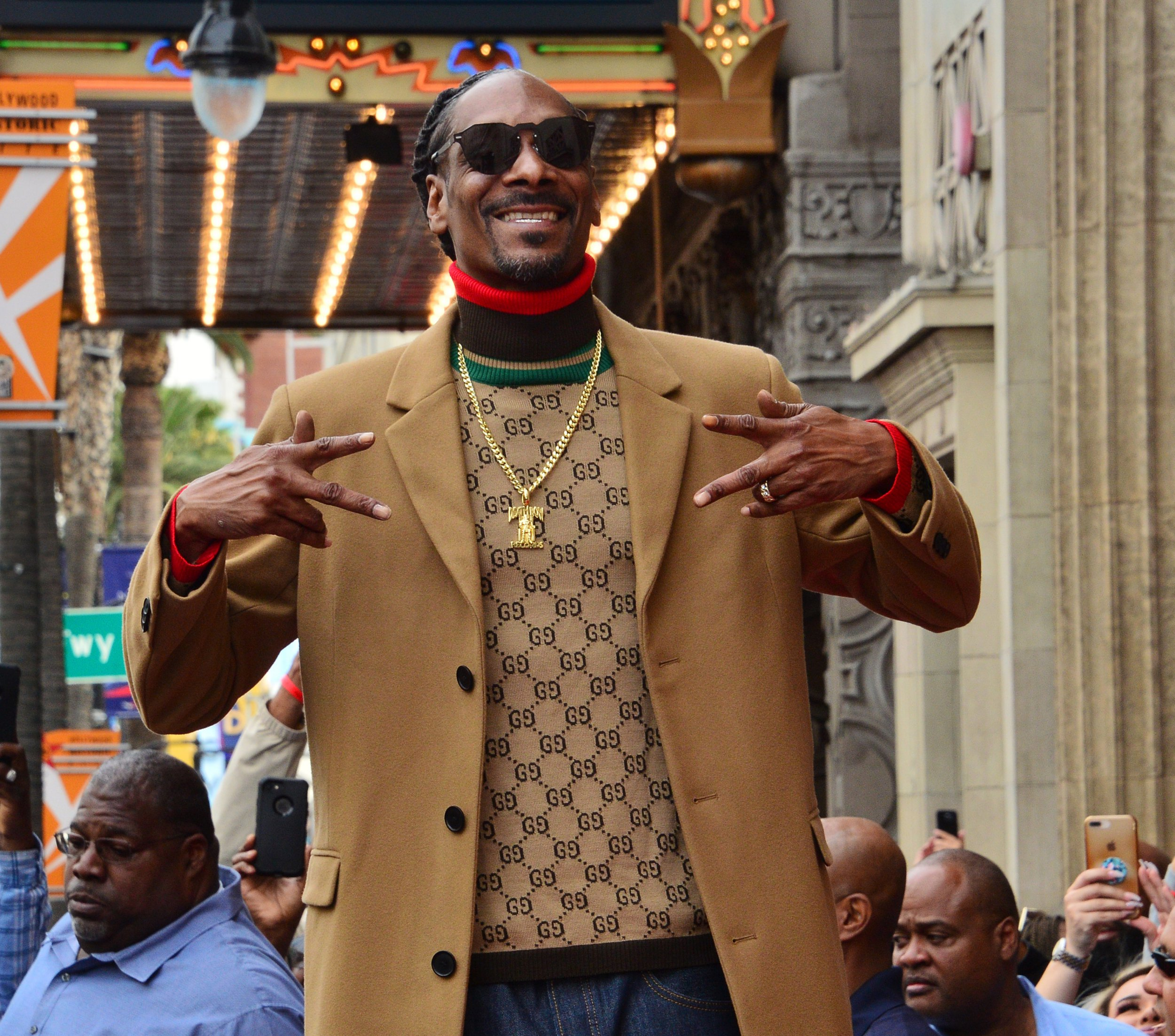 Rap singer, actor, musician and performer Snoop Dogg is introduced during an unveiling ceremony honoring him with the 2,651st star on the Hollywood Walk of Fame in Los Angeles on November 19, 2018. Photo by Jim Ruymen/UPIPHOTOGRAPH BY UPI / Barcroft Images