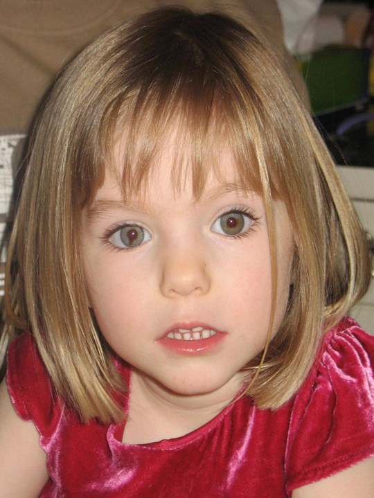 Undated family handout photo of Madeleine McCann.