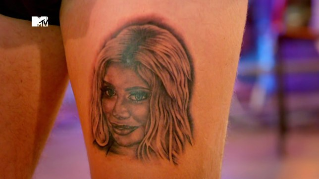 Just Tattoo Of Us Chloe Ferry Gets Her Own Face Tattooed On