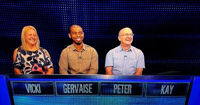 The Chase contestants' names make up two famous comedians and gives viewers all the laughs Picture: ITV/ The Chase METROGRAB