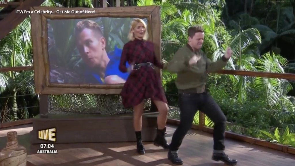 Holly Willoughby baffled as Declan Donnelly gets his snake hips out again on I'm A Celebrity