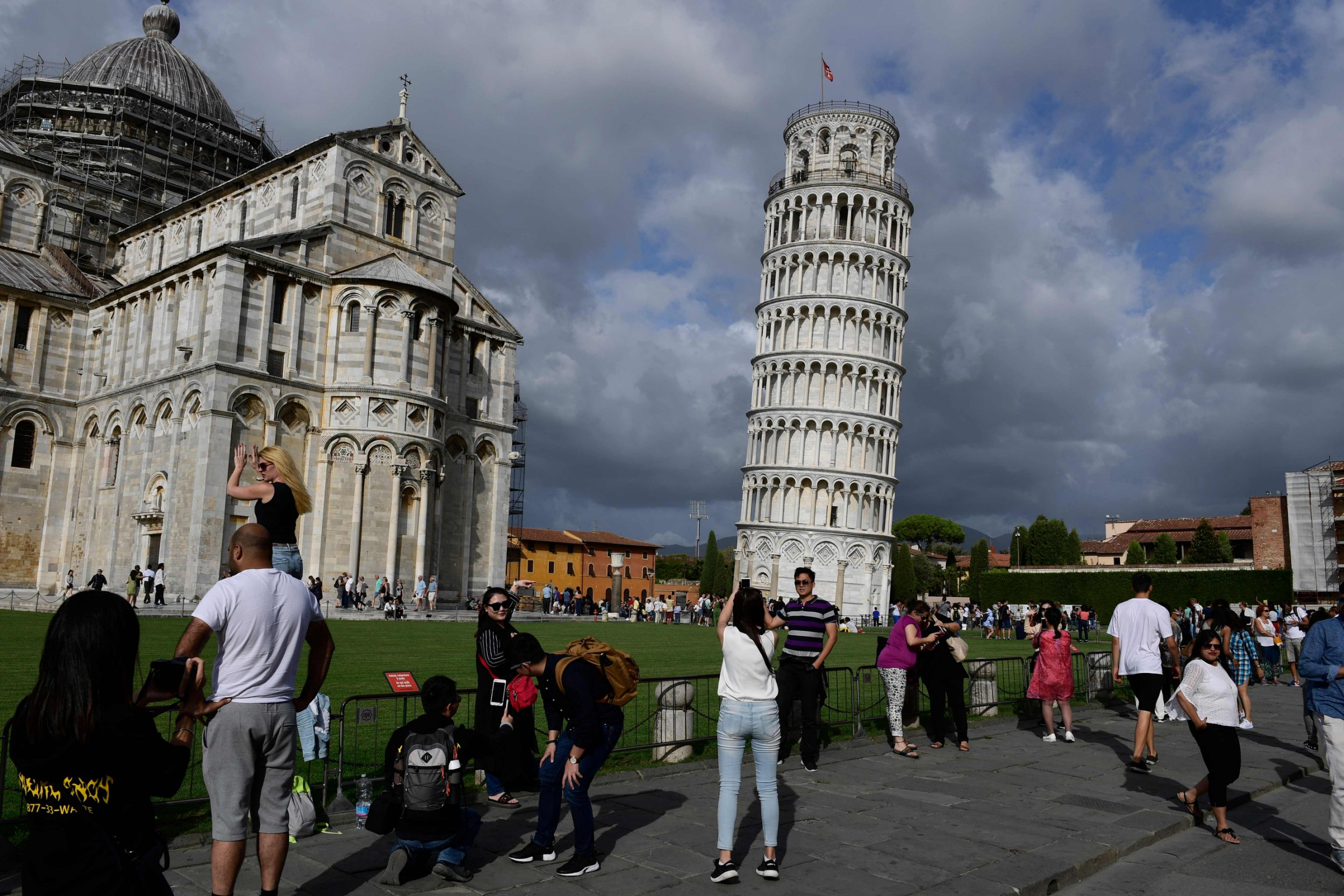 Leaning Tower of Pisa is not leaning as much as it used to