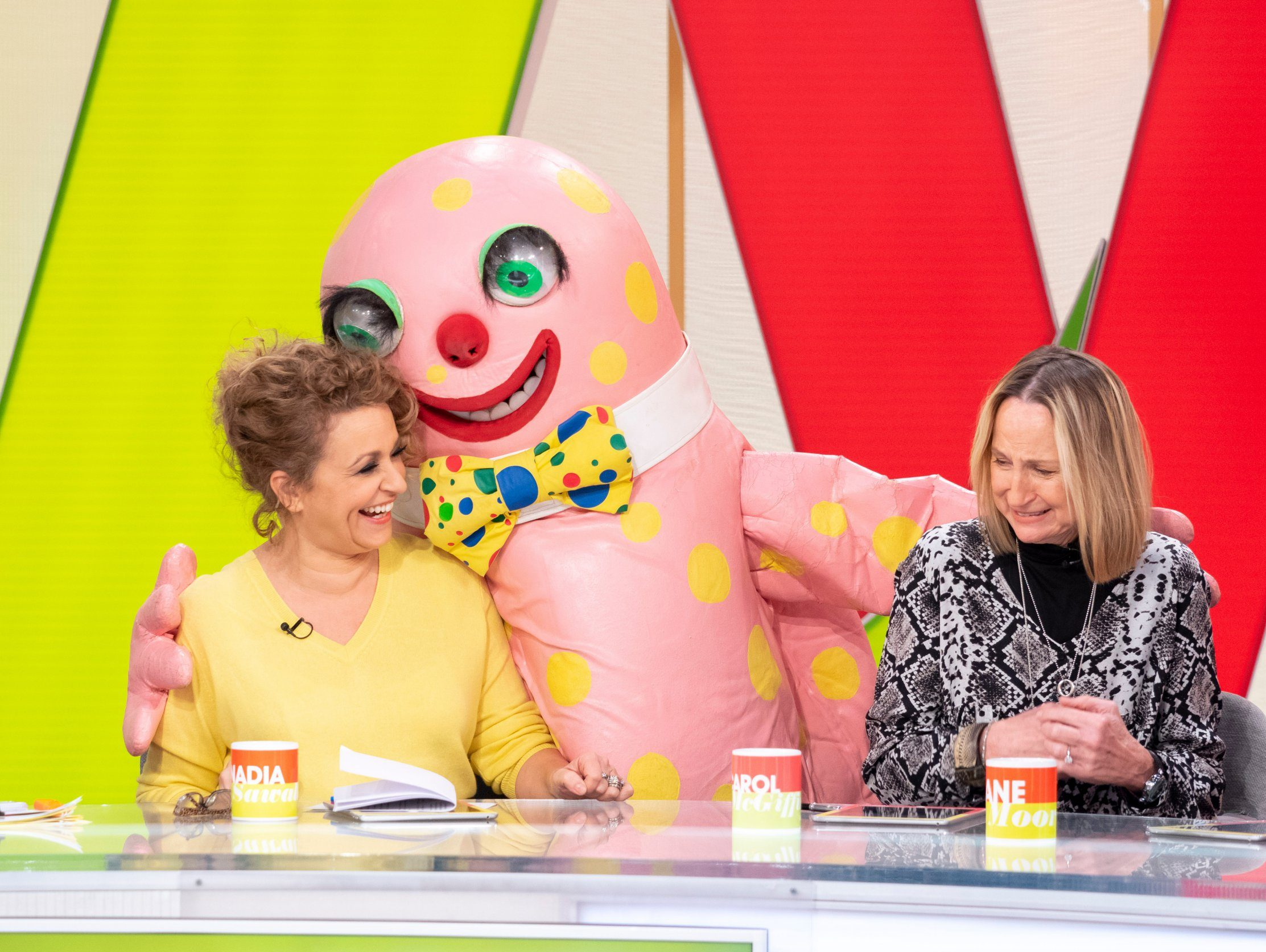 Loose Women viewers don't see the funny side as Mr Blobby gets asked about Brexit