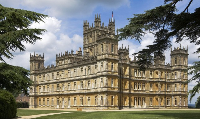 An exterior view of Highclere Castle, used to film Downton Abbey