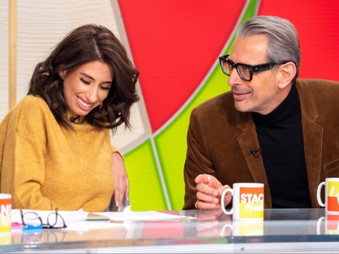 Stacey Solomon jokes about masturbation with Jeff Goldblum in rude TV interview