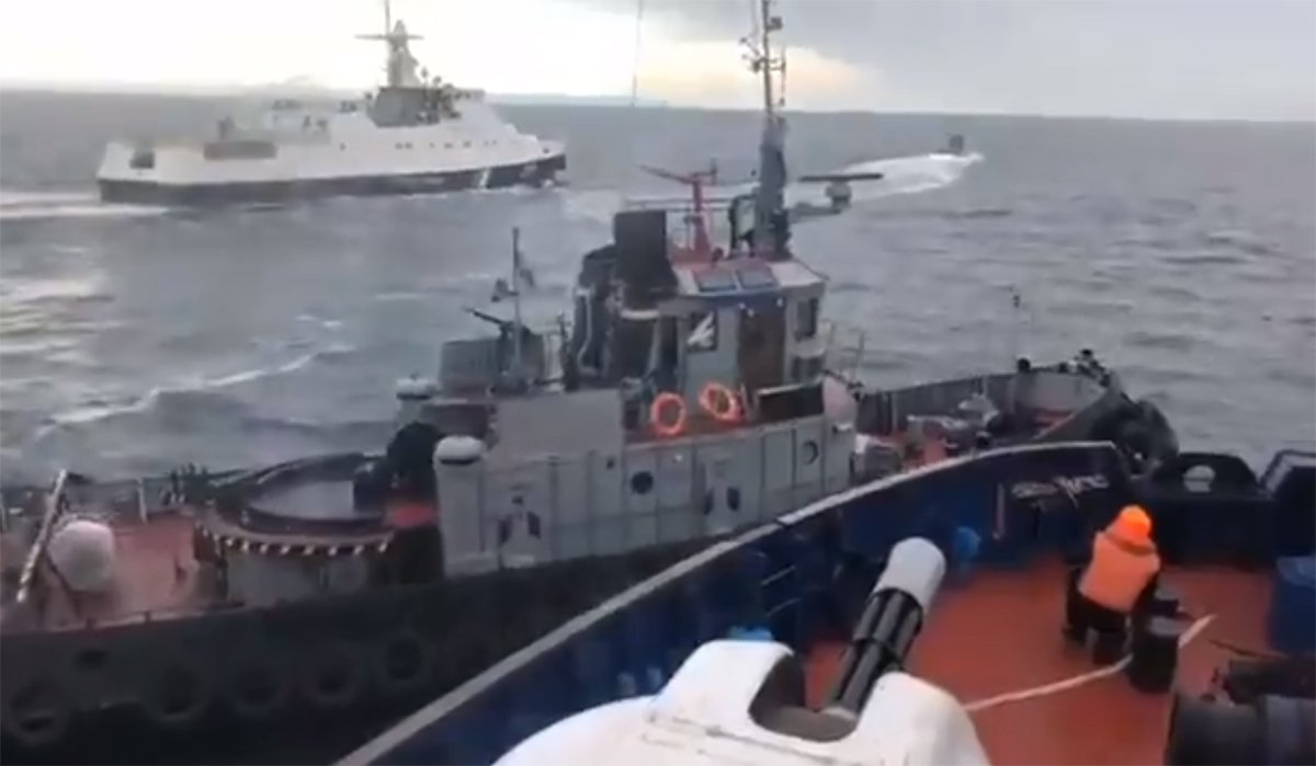 Russia seizes three Ukrainian navy vessels after opening fire on Kerch Strait