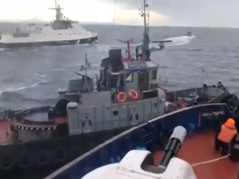 Russia seizes three Ukrainian navy vessels after opening fire on Kerch Strait
