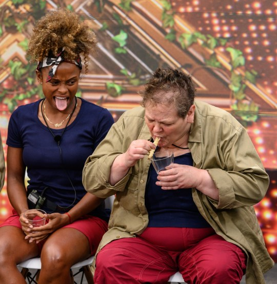 Mandatory Credit: Photo by James Gourley/REX (9992109ba) Live Trial: The Jungle X Factor - Fleur East and Anne Hegerty 'I'm a Celebrity... Get Me Out of Here!' TV Show, Series 18, Australia - 25 Nov 2018
