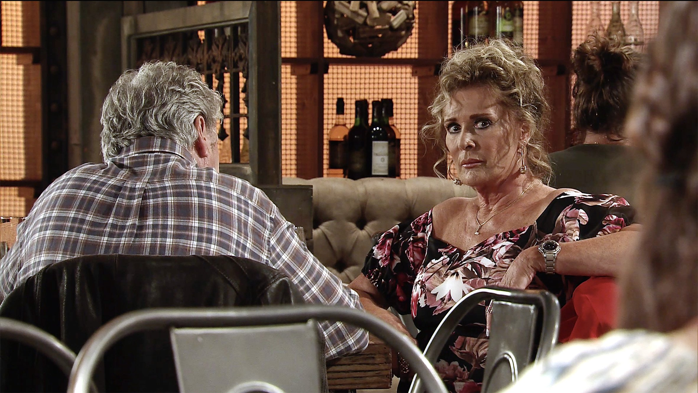 FROM ITV STRICT EMBARGO - No Use Before Tuesday 4th September 2018 Coronation Street - Ep 9556 Monday 10th September 2018 - 1st Ep Over lunch Jim McDonald [CHARLES LAWSON] admits to LizMcDonald [BEVERLEY CALLARD] the real reason for his return, he has some life changing news. The girl at the next table, Hannah [HANNAH ELLIS RYAN], is their daughter who they once knew as Katie. Liz is shocked to the core. Picture contact - david.crook@itv.com This photograph is (C) ITV Plc and can only be reproduced for editorial purposes directly in connection with the programme or event mentioned above, or ITV plc. Once made available by ITV plc Picture Desk, this photograph can be reproduced once only up until the transmission [TX] date and no reproduction fee will be charged. Any subsequent usage may incur a fee. This photograph must not be manipulated [excluding basic cropping] in a manner which alters the visual appearance of the person photographed deemed detrimental or inappropriate by ITV plc Picture Desk. This photograph must not be syndicated to any other company, publication or website, or permanently archived, without the express written permission of ITV Plc Picture Desk. Full Terms and conditions are available on the website www.itvpictures.com