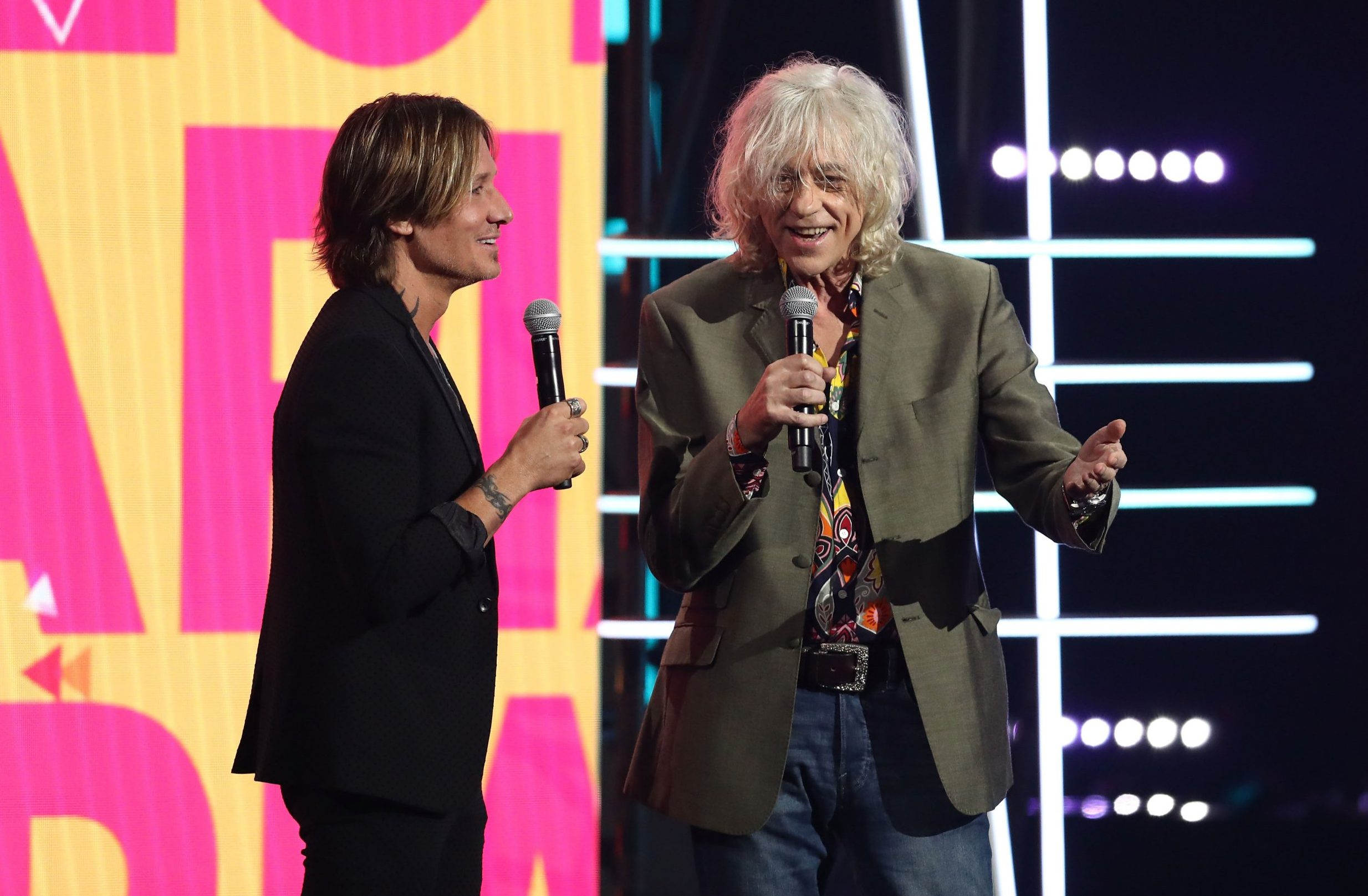 SYDNEY, AUSTRALIA - NOVEMBER 28: Keith Urban and Sir Bob Geldof during the 32nd Annual ARIA Awards 2018 at The Star on November 28, 2018 in Sydney, Australia. (Photo by Mark Metcalfe/Getty Images)