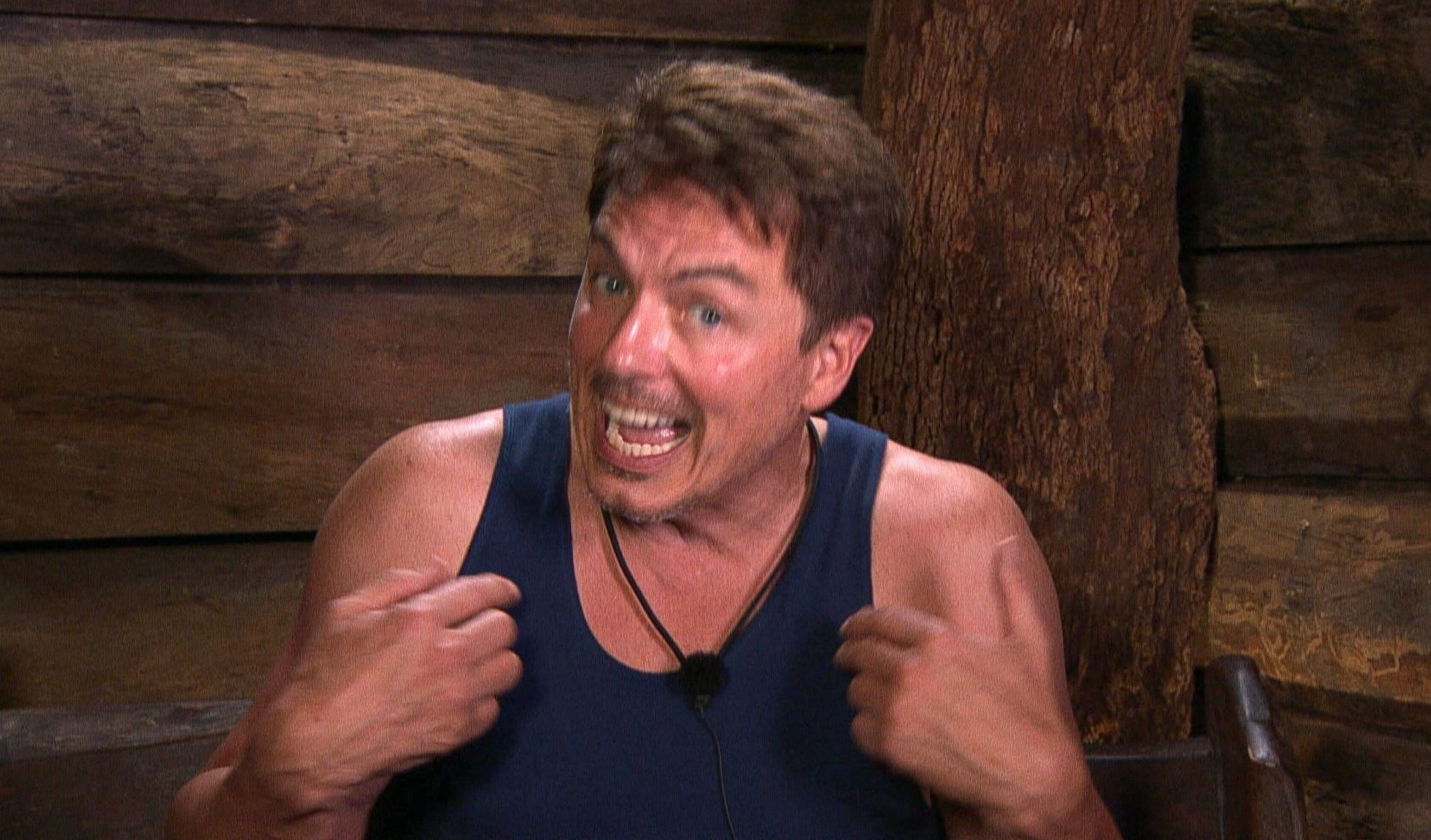STRICT EMBARGO - NOT TO BE USED BEFORE 22:00 GMT, 28 NOV 2018 - EDITORIAL USE ONLY Mandatory Credit: Photo by ITV/REX (10001287fj) Nick Gets Knickered - John Barrowman 'I'm a Celebrity... Get Me Out of Here!' TV Show, Series 18, Australia - 28 Nov 2018