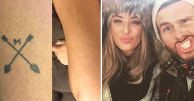 Charlotte Crosby removes tattoo tribute to ex Mitch Jenkins | Metro News