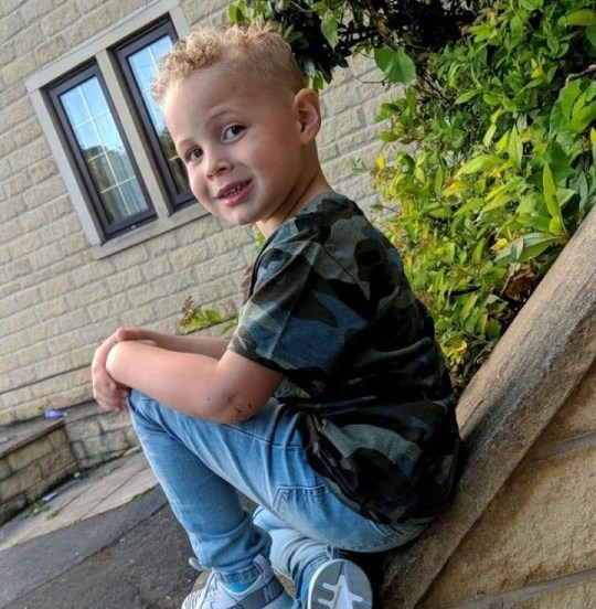 A 'perfectly healthy' young boy died within hours of being struck down with meningitis despite showing hardly any symptoms. Enzo Joyce, four, only had a high temperature when mum Katie took him to Calderdale Royal Hospital in Halifax, on Thursday, November 15. caption: Enzo Joyce, four, who died of meningitis