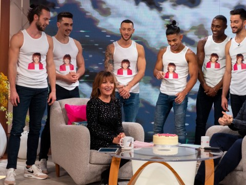 Lorraine gets a surprise birthday message from Channing Tatum as he surprises her with male strippers