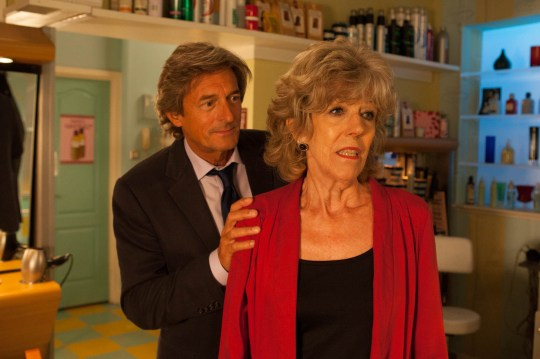 Mandatory Credit: Photo by ITV/REX/Shutterstock (3529661c) Coronation Street - Ep 7977 After a sleepless night Audrey Roberts [SUE NICHOLLS] checks her bank in case Lewis Archer [NIGEL HAVERS] has taken any more money. Later, after braving work despite her frame of mind, she's alone in the salon when Lewis suddenly appears. She rails at him for scaring her demanding to know where he's been. Coronation Street 2013