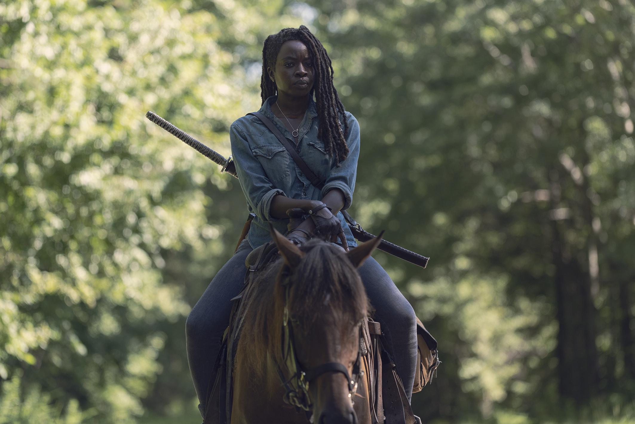 Michonne on The Walking Dead
