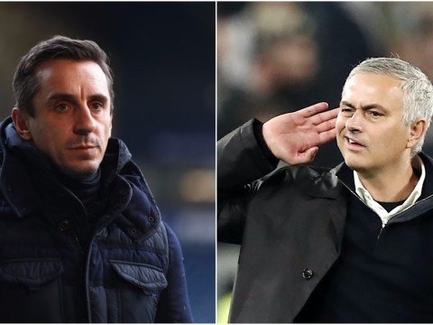 Gary Neville disagrees with Paul Scholes over controversial Jose Mourinho celebration
