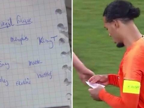 The brilliant note passed to Virgil van Dijk before crucial Netherlands equaliser against Germany