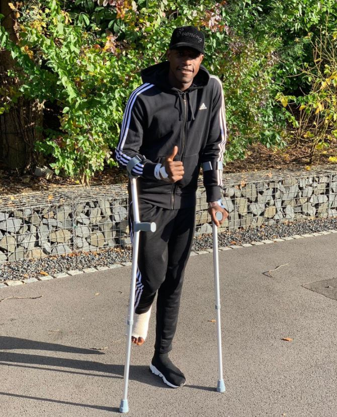 Arsenal star Danny Welbeck promises to return 'stronger than ever before' after ankle injury