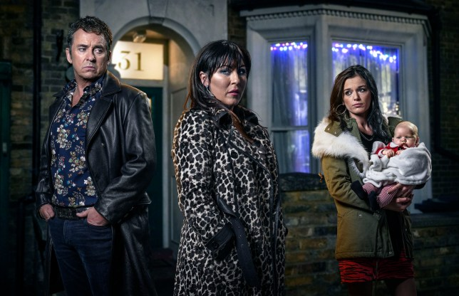 Kat, Alfie and Hayley Eastenders Christmas