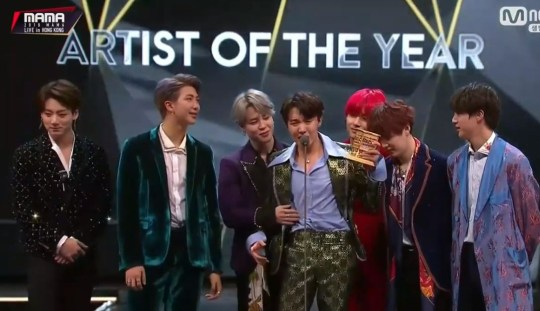 BTS considered disbanding reveals Jin during emotional MAMA speech