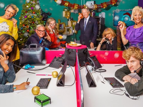 When is Celebrity Call Centre at Christmas and who is on the show?