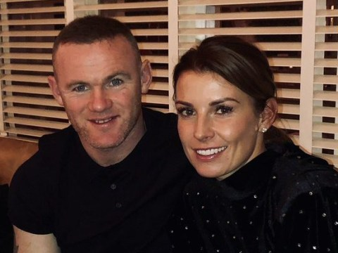 Coleen and Wayne Rooney cosy up at dinner after flying home from Christmas after moving to US