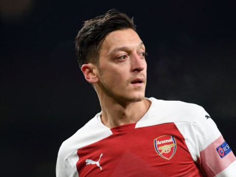 Mesut Ozil sends message to Arsenal team-mates after being left out of Chelsea win